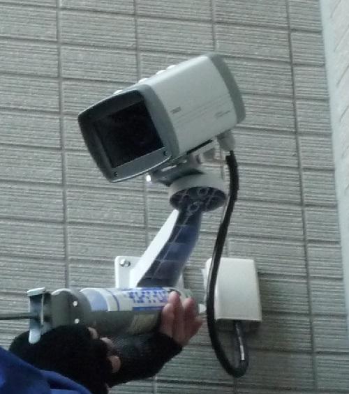 セキュリティカメラの移設